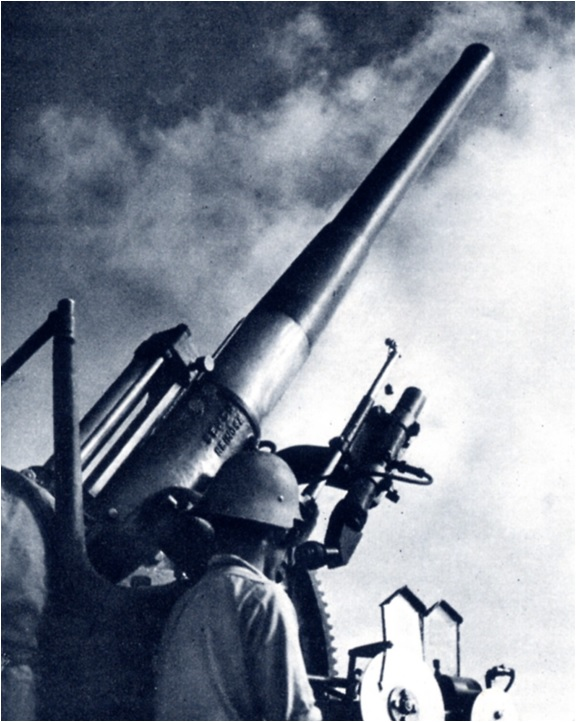 Canó antiaeri Vickers 105 mm
